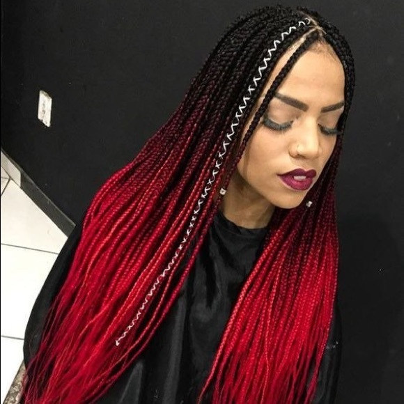 5 packs of Black wine red ombré braiding hair *NWT Boutique
